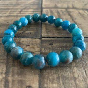 8mm Blue Apatite Bead Chakra Stretch Bracelet